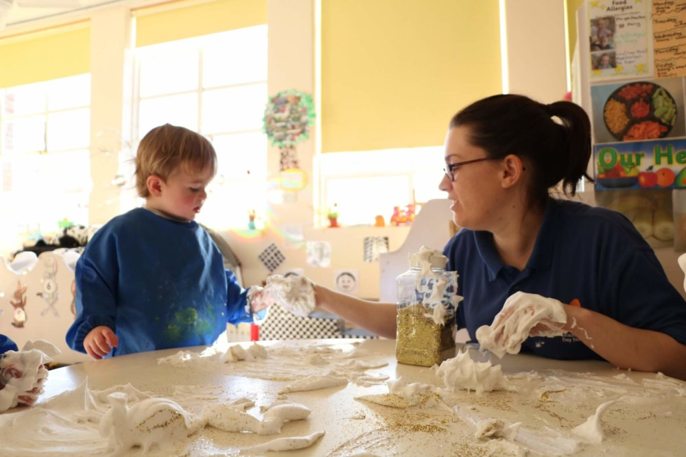 Messy play at Ditchingham Day Nursery