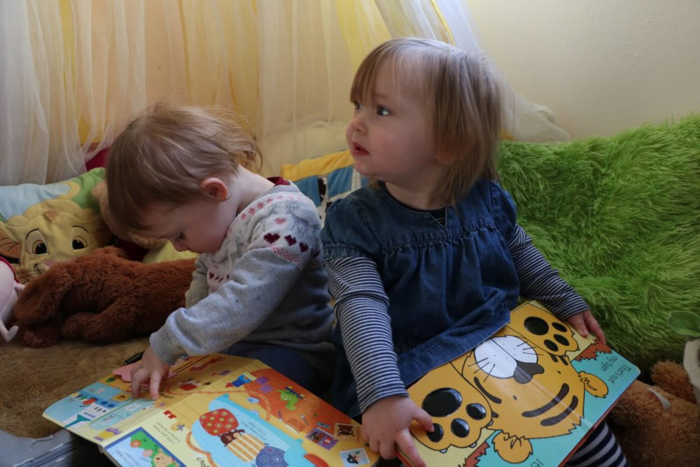 Reading time at Ditchingham Day Nursery