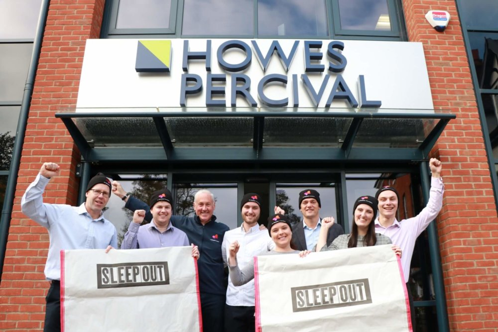 Howes Percival show their support for Sleep Out 2018