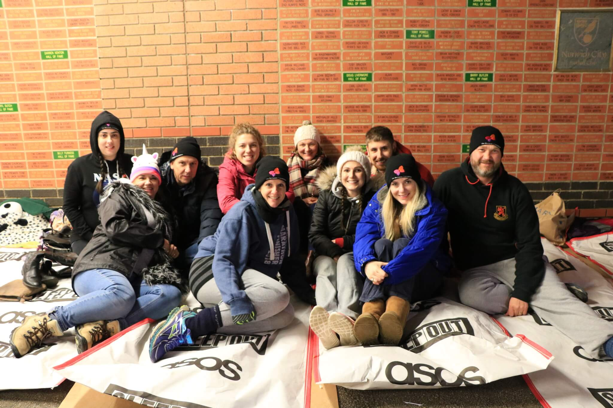 Birketts team at Norwich Sleep Out 2018