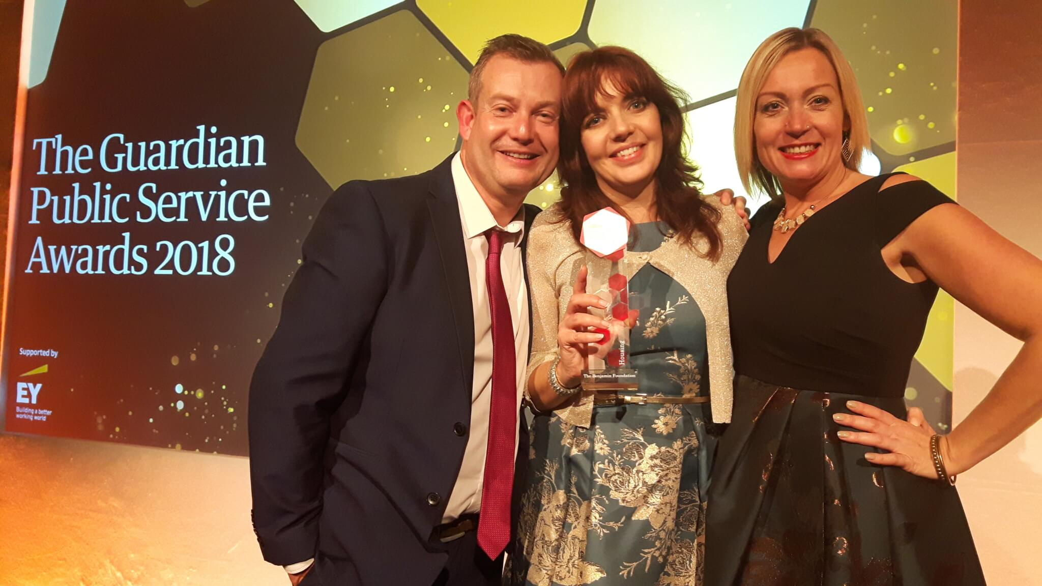 Our Heart and Home team were delighted to win a Guardian Public Service Award in November 2018