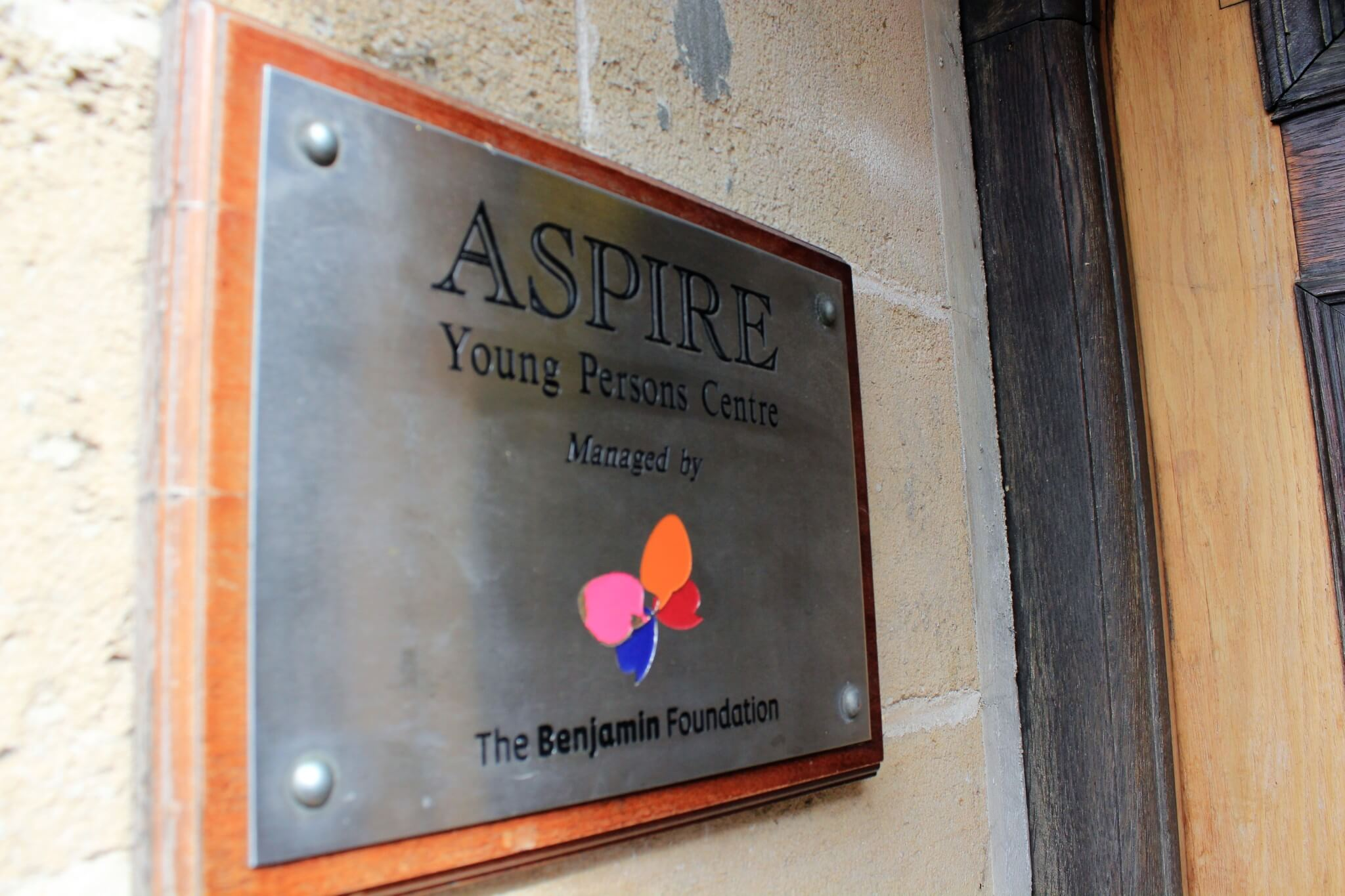 Aspire Young Person's Centre sign