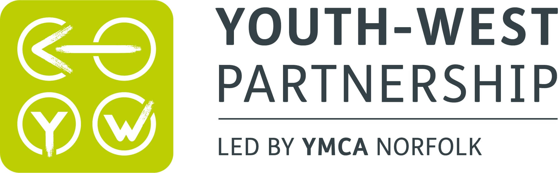 Youth West Partnership Logo - led by YMCA Norfolk