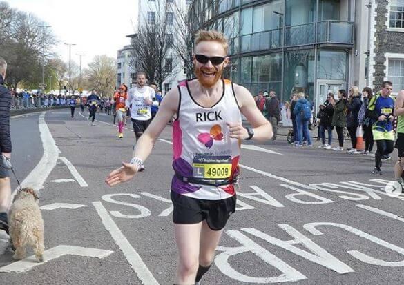 Rick takes on the Brighton Marathon. Photo credit: Jo Moore.